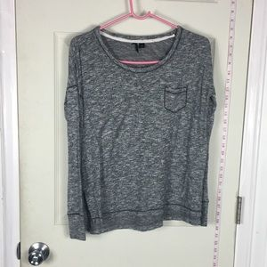 Stretchy top grey long sleeve casual S